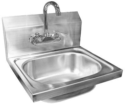"""ACE Wall Mount Hand Sink 20"""" x 17"""" w/ No Lead Faucet, ETL approved HS-2017WG"""