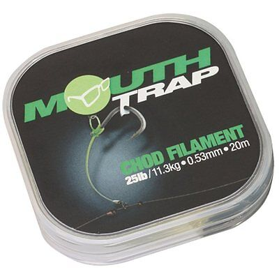 Korda NEW Carp Fishing Mouthtrap Chod Filament 15lb 0.43mm 20m - KMT15
