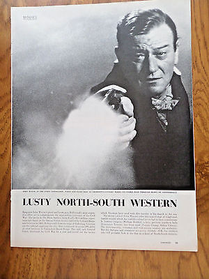 1959 Movie Article Ad  John Wayne The Horse Soldiers