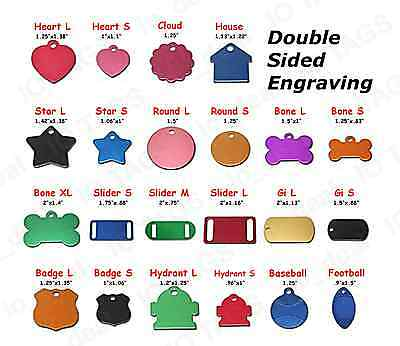 MADE IN USA Custom Engraved Pet ID Tag, Dog Tag Cat Tag, Double Sided