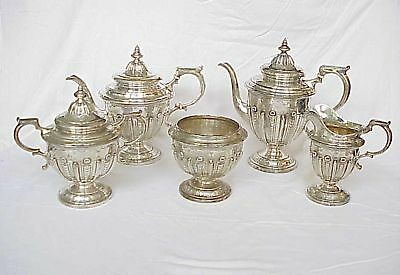 Black Starr & Frost Sterling Silver Tea Set 5pc