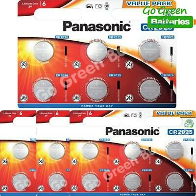24 x Panasonic CR2025 3V Lithium Coin Cell Battery 2025