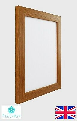 "Oak 28mm Photo Picture Frame 9x9"" 9x10"" 9x11 9x12 9x13 9x14 9x15-26"" Mount Glass"