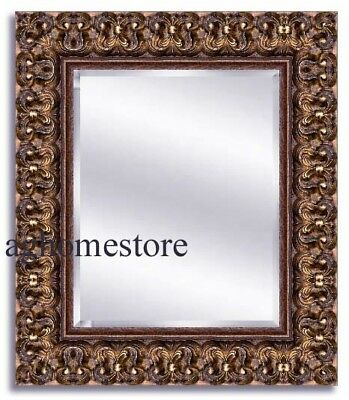 Vintage gold ornate framed wall mirror large oval wood frame for 12x48 door mirror