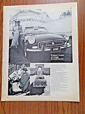 1972 MGB Ad Convertible Doesn't Create Image Confirms