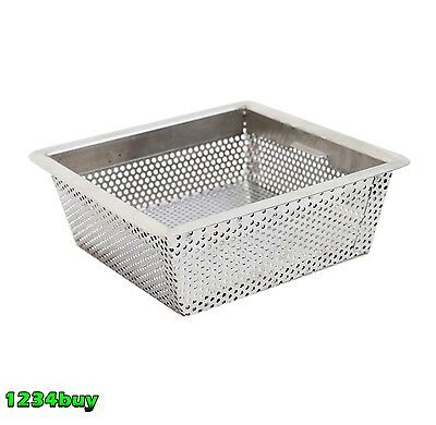 "Stainless Steel Floor Sink Basket Drop In 8-5/8""L x 8-5/8""W x 2-8/8""H FS-BSI"