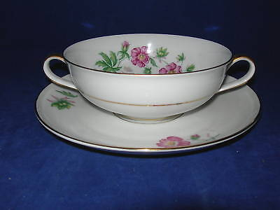 Heinrich H&C Selb Montrose Cream Soup Cup and Saucer/s