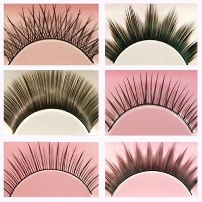 6 Pairs of False Fake Eyelashes - 6 Style Variety Pack