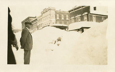 RPPC NY Adams Snowstorm Snowed in Automoblie