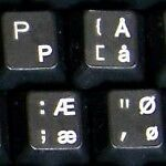 Danish Transparent Keyboard Sticker With White Letters