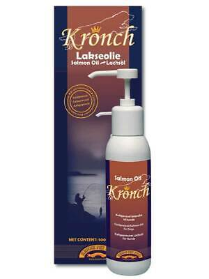 Kronch Salmon Oil Dogs Cats 500ml healthy skin coat wellbeing omega 3 & 6