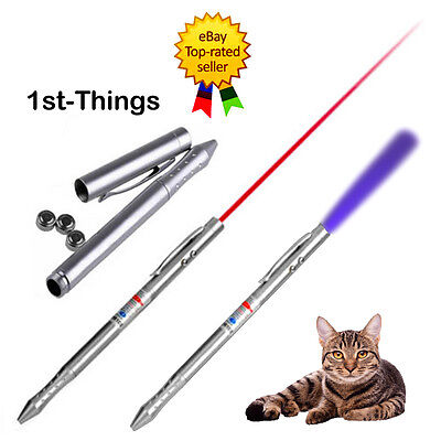 1mw 650nm Powerful Red Light Presentation Laser Pen + INVISIBLE INK UV Pen Torch