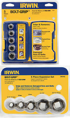 IRWIN 10 Piece Bolt-Grip 8mm-19mm Damaged Nut Remover,Base & Expansion Twin Set