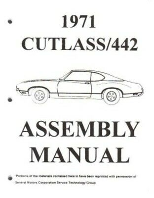 OLDSMOBILE 1971 Assembly Manual 71 Cutlass 442