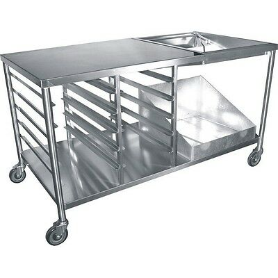 "Heavy Duty Stainless Steel Donut Table 34""x66""x36""H free 1 Glazing Dipper DN-TBL"