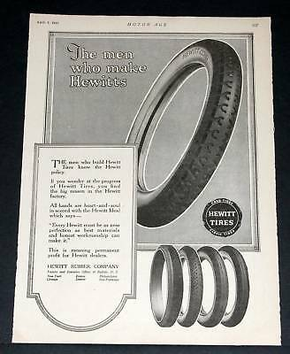 1920 Old Magazine Print Ad, Hewitt Cord & Fabric Tires, Buffalo!