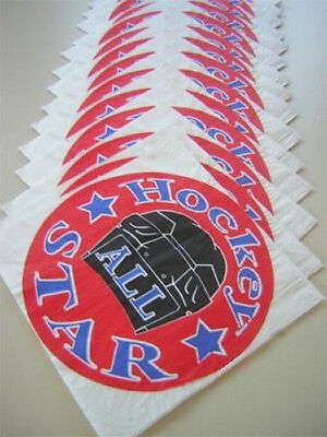 16 Hockey All Star Party Napkins - BOLD & COLORFUL DESIGN!