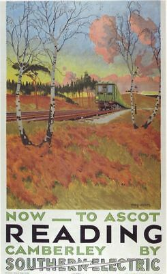 1939 Southern Railway Reading Ascot Poster A3 Reprint