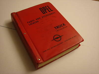 OPEL Trucks Part and Accessories Catalog.