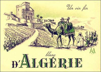 1000 (ONE THOUSAND) SPECTACULAR ALGERIA WHITE WINE LABELS of the 1950's