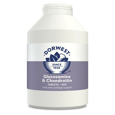 Dorwest Herbs Glucosamine & Chondroitin 400 tablets Dog Cat supplement