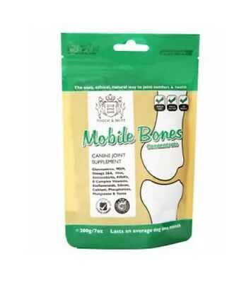 Pooch & Mutt Mobile Bones 200g Concentrate Glucosamine HCL MSM Omega 3 6