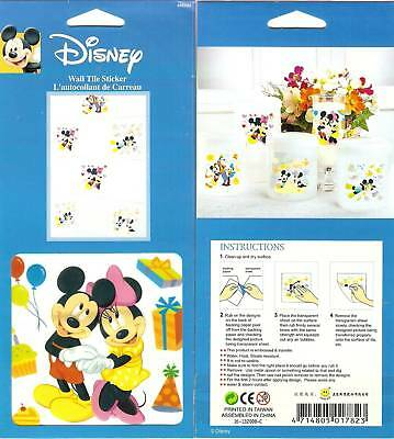 Vintage Decorative Wall Tile Stickers MICKEY & MINNIE BIRTHDAY