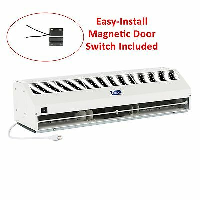 "Awoco 36"" Super Power 2 Speed 1400 CFM Indoor Air Curtain w/ Magnetic Switch"