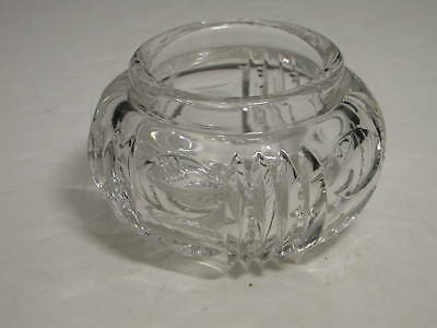 Leaded Crystal Cut Powder Box NL Thumprints Notched Rib