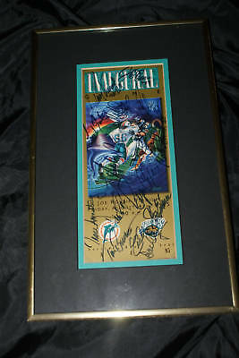 1995 Miami Dolphin Ticket auto by multiple players