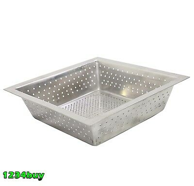 "GSW FS-BS Stainless Steel Floor Sink Basket 10""x10""x2-1/2""H For 12""x12"" Sink"