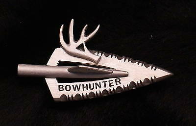 Empire Pewter Bowhunter Broadhead w/ Antler Archery Pin