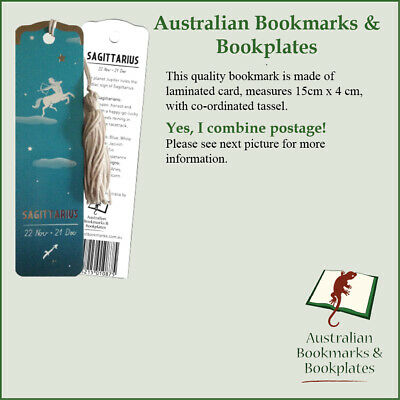 """Sagittarius"" (22 Nov-21 Dec) zodiac bookmark, tassel"