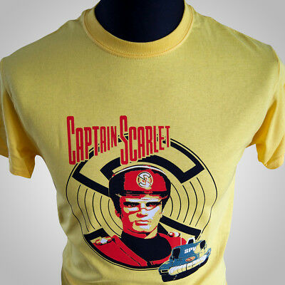 Captain Scarlet TV Themed Retro T Shirt Mysterons Vintage Thunderbirds