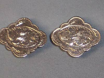Antique Victorian Gold Filled Chased Cuff Links Buttons