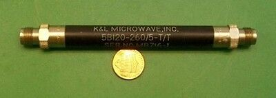 RF IF microwave bandpass filter 260 MHz 5 MHz BW, data