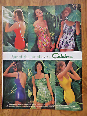 1961 Catalina Swim Suit Ad  Art of Eve Collection