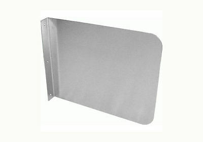 "Wall Mount Stainless Steel Splash Guard 17""x12"" for Hand Sink SP-S1712, 1 Piece"