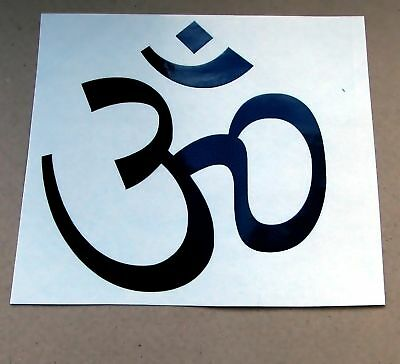 1 HINDU AUM OM OHM SNOWBOARD STICKER DECAL DIE CUT s1