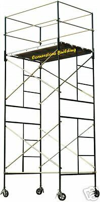 SCAFFOLD ROLLING TOWER SAFERSTACK Complete 2-Section High Tower Scaffold System
