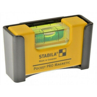 STABILA PRO Pocket/Belt RARE Earth Magnetic Mini Spirit Level & Holster, 17953