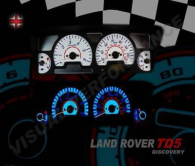 Land Rover Discovery 2 Td5 White Dial Kit Speedo Dash Lighting Upgrade