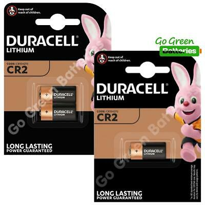 3 x Duracell CR2 3V Ultra Lithium Photo Battery DLCR2 ELCR2 CR15H270 2024 Expiry