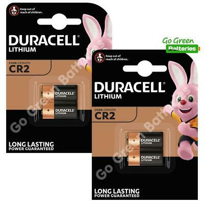 4 x Duracell CR2 3V Ultra Lithium Photo Battery DLCR2 ELCR2 CR15H270 2024 Expiry