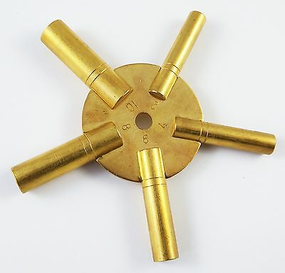 Brass Clock Spider Key Winding Keys 2-10 New Tool