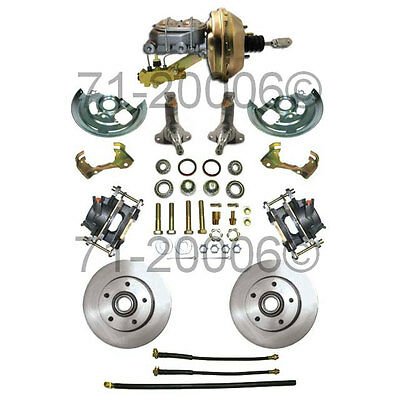 New Complete Front Disc Brake Conversion Kit For 62 63 64 65 66 67 Chevy Ii Nova