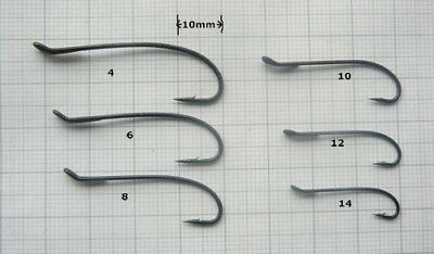 Talon  Salmon Single Fly Tying Hooks 4 6 8 10 12 & 14