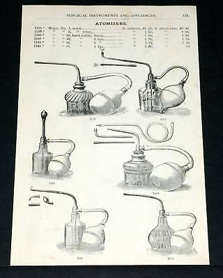 1891 Wocher Surgical Catalog Pg 113, Magic Atomizers & Compressed Air Apparatus!