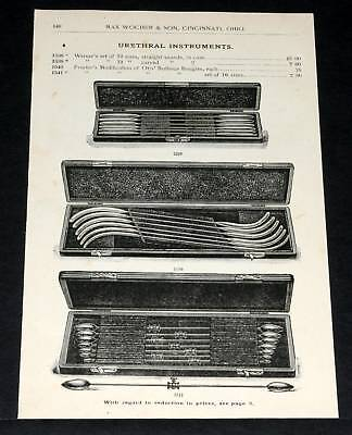 1891 Wocher Surgical Catalog Page 148, Urethral Instruments, Bougies & Sounds!