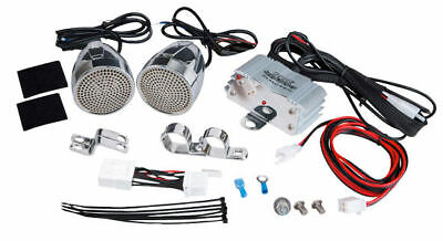 Motorcycle Audio System 600 Watts Chrome Speakers